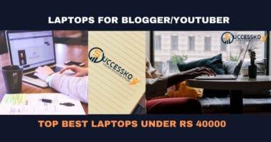 Top Best Laptops under 40000 for Blogger or YouTuber